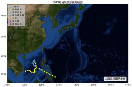 """2008年第19号强热带风暴""""美莎克"""""""